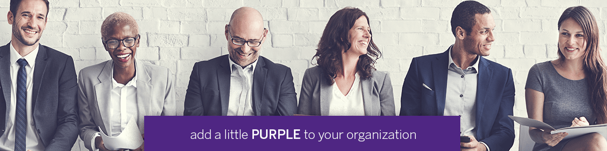 add a little purple to your organization