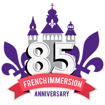 Western's French Immersion School's 85th anniversary logo