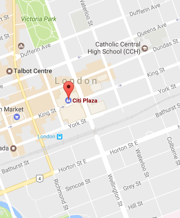 Map Of Downtown London.Location Parking Western Continuing Studies