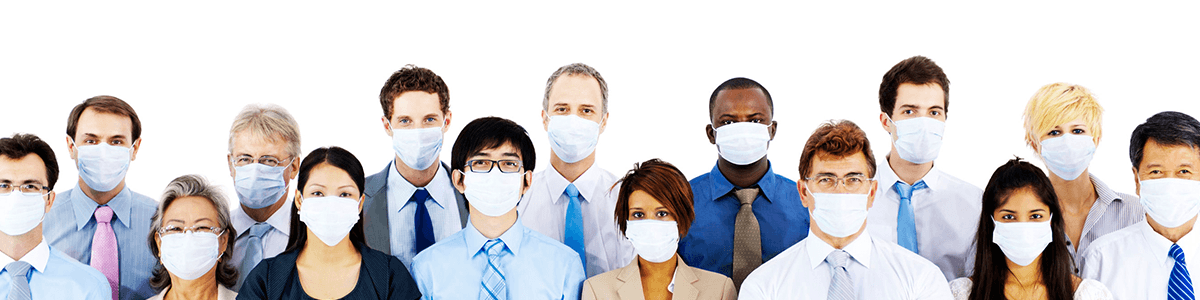 business People Wearing Medical Mask